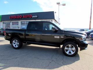 Used 2014 RAM 1500 Sport Crew Cab 5.7L 4WD LEATHER NAVI CAMERA CERTIFIED for sale in Milton, ON