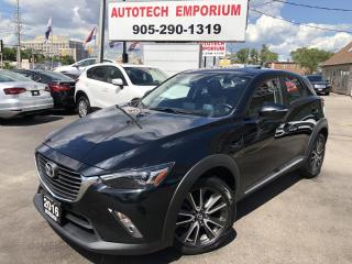 Used 2016 Mazda CX-3 GT AWD Navigation/Leather/Sunroof/Camera/Alloys for sale in Mississauga, ON