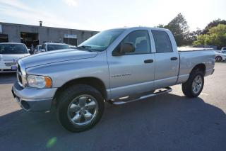 Used 2005 Dodge Ram 1500 4WD SLT LARAMIE QUAD CAB LONG CERTIFIED 2YR WARRANTY CRUISE ALLOYS RUNNING BOARD for sale in Milton, ON