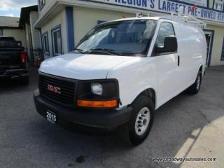 Used 2015 GMC Savana 3/4 TON CARGO MOVING 2 PASSENGER 6.6L - DURAMAX.. IN-CARGO SHELVING.. BACK-UP CAMERA.. ROOF-RACKS.. TOW SUPPORT.. KEYLESS ENTRY.. for sale in Bradford, ON