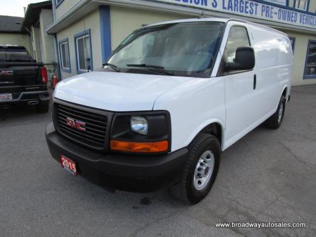 2015 GMC Savana 3/4 TON CARGO MOVING 2 PASSENGER 6.6L - DIESEL.. SHORTY.. SHELVING AREAS.. WEATHER-GUARD DIVIDER.. CD/AUX INPUT.. KEYLESS ENTRY..