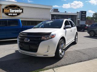 Used 2014 Ford Edge Sport | AWD | Navigation | Panoramic Power Sun Roof | Leather | No Damages | One Owner | Excellent Condition for sale in North York, ON