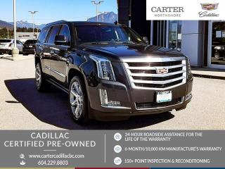 Used 2016 Cadillac Escalade Premium Collection SIDE STEPS - ONSTAR NAVI - WIRELESS CHARGING - MOONROOF for sale in North Vancouver, BC