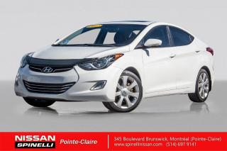 Used 2012 Hyundai Elantra Limited w/Navi CUIR / NAVIGATION / BLUETOOTH / TOIT OUVRANT for sale in Montréal, QC