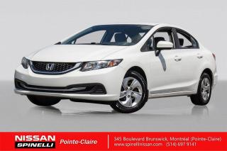 Used 2015 Honda Civic LX CAMERA DE RECUL / BLUETOOTH / SIEGES CHAUFFANTS for sale in Montréal, QC