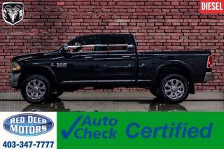 Used 2016 RAM 3500 4x4 Crew Cab Limited Diesel Leather Roof Nav for sale in Red Deer, AB