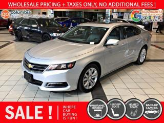 Used 2019 Chevrolet Impala LT - Pano Sunroof / Leather / No Dealer Fees for sale in Richmond, BC
