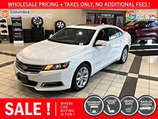 Used 2019 Chevrolet Impala LT - Leather / Pano Sunroof / No Dealer Fees for sale in Richmond, BC
