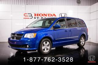 Used 2013 Dodge Grand Caravan CREW + STOW N GO + CAMERA + WOW! for sale in St-Basile-le-Grand, QC