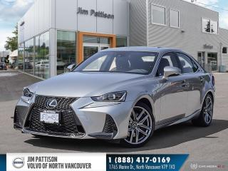 Used 2019 Lexus IS 300 FSport - LOCAL - LOW KM'S - NO ACCIDENTS for sale in North Vancouver, BC