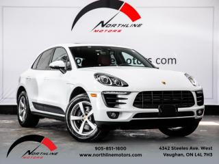 Used 2017 Porsche Macan Navigation|Pano Roof|Red Leather|Heated & Cooled Seats for sale in Vaughan, ON