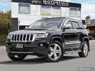 Used 2012 Jeep Grand Cherokee Overland *One Owner, Accident Free, Radar Cruise* for sale in Scarborough, ON