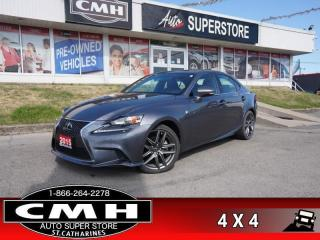 Used 2015 Lexus IS 250 Base  F-SPORT-3 !! AWD ADAP-CC CW CS NAV ROOF LEATH CAM P/SEATS HS HTD-S/W 18