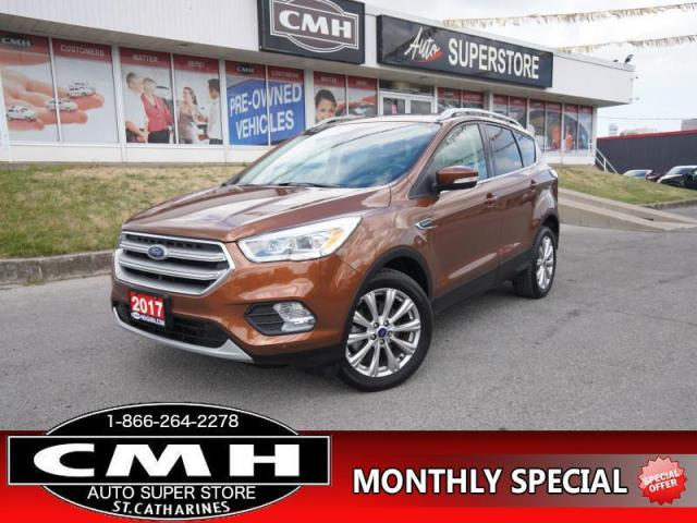 2017 Ford Escape Titanium  AWD NAV LANE-DEP BLIND-SPOT ROOF LEATH