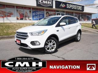 Used 2017 Ford Escape SE  NAV LEATH ROOF P/SEAT CAM P/GATE HS for sale in St. Catharines, ON