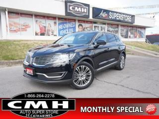 Used 2016 Lincoln MKX Reserve  AWD NAV ROOF CLD/HTD-SEATS P/GATE for sale in St. Catharines, ON