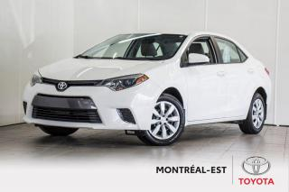 Used 2016 Toyota Corolla LE CAMÉRA ,SIÈGES CHAUFFANTS for sale in Montréal, QC