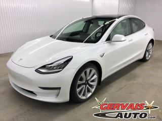Used 2020 Tesla Model 3 Long Range Dual Motor GPS AWD MAGS TOIT PANORAMIQUE for sale in Shawinigan, QC