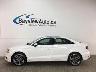 Used 2017 Audi A3 2.0T Progressiv - HTD LEATHER! PANOROOF! REVERSE CAM! ALLOYS! + MORE! for sale in Belleville, ON