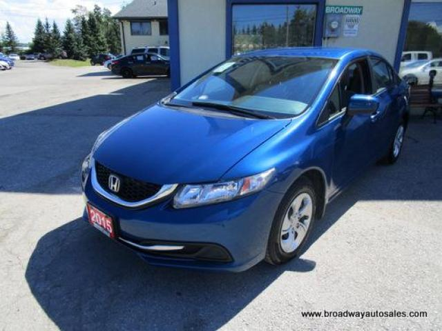 2015 Honda Civic WELL EQUIPPED LX EDITION 5 PASSENGER 1.8L - SOHC ENGINE.. HEATED FRONT SEATS.. CD/AUX/USB INPUT.. BLUETOOTH SYSTEM.. BACK-UP CAMERA..