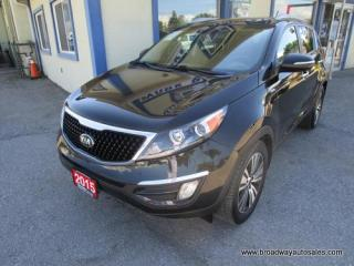 Used 2015 Kia Sportage ALL-WHEEL DRIVE SX EDITION 5 PASSENGER 2.4L - DOHC.. LEATHER.. HEATED SEATS.. DUAL SUNROOF.. BACK-UP CAMERA.. BLUETOOTH SYSTEM.. ACTIVE-ECO.. for sale in Bradford, ON