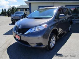 Used 2013 Toyota Sienna HANDICAP ACCESSIBLE LE EDITION 5 PASSENGER 3.5L - V6.. MI-NORTHSTAR UPGRADES.. BACK-UP CAMERA.. BLUETOOTH SYSTEM.. POWER DOORS & RAMP.. for sale in Bradford, ON