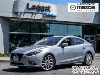 Used 2016 Mazda MAZDA3 GT- LEATHER, MOONROOF, BOSE, BLUETOOTH, REAR CAMERA for sale in Burlington, ON