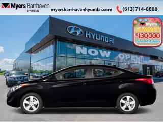 Used 2013 Hyundai Elantra Limited  - Leather Seats - $118 B/W for sale in Nepean, ON