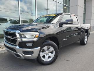 Used 2019 RAM 1500 BIGHORN , BOITE 6'4'' , DIFF 3.92 , ÉCRA for sale in Ste-Agathe-des-Monts, QC