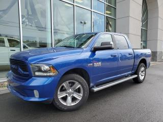 Used 2018 RAM 1500 CREW , MAG , ÉCRAN 8'4'' , ENS.SPORT for sale in Ste-Agathe-des-Monts, QC