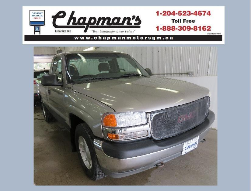 used 2001 gmc sierra 1500 sl cruise control, air conditioning, cassette player for sale in killarney, manitoba carpages.ca