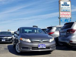 Used 2012 Honda Civic EX SUNROOF ALLOYS AIR CONDITION for sale in Brampton, ON
