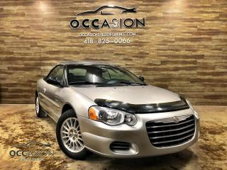 Used 2004 Chrysler Sebring Décapotable 2 portes 2004 LX 108000KM for sale in Ste-Brigitte-de-Laval, QC