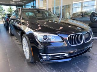 Used 2013 BMW 7 Series 740LI EXECUTIVE PACKAGE, DVD, ACCIDENT FREE, LOW KM for sale in Edmonton, AB