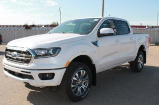New 2020 Ford Ranger LARIAT 500A 4X4 SuperCrew 2.3L Ecoboost with Heated Leather Seats, Forward and Reverse Sensing System, Lane Keeping System, Pre-Collision Assist, and Rear View Camera for sale in Edmonton, AB
