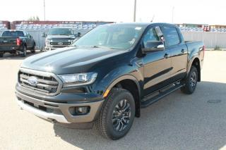 New 2020 Ford Ranger LARIAT 501A 4X4 SuperCrew 2.3L Ecoboost with Heated Leather Seats, Forward and Reverse Sensing System, Lane Keeping System, Pre-Collision Assist, and Rear View Camera for sale in Edmonton, AB