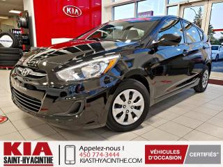 Used 2017 Hyundai Accent ** EN ATTENTE D'APPROBATION ** for sale in St-Hyacinthe, QC