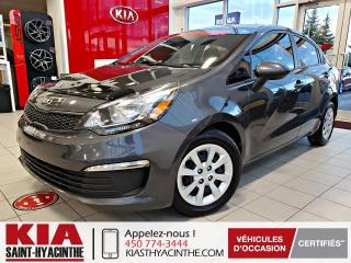 Used 2016 Kia Rio LX+ ** BLUETOOTH + A/C for sale in St-Hyacinthe, QC