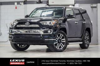 Used 2018 Toyota 4Runner LIMITED7 PASS 4WD; CUIR TOIT GPS CAMERA AUDIO 7 PASSAGERS - NAVIGATION - SIÈGES CHAUFFANT ET VENTILÉ - AUDIO PREMIUM JBL - MAGS 20'' for sale in Lachine, QC