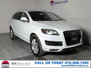 Used 2013 Audi Q7 3.0L TDI Premium Nav Pano 7-Pass Camera Certified for sale in Toronto, ON