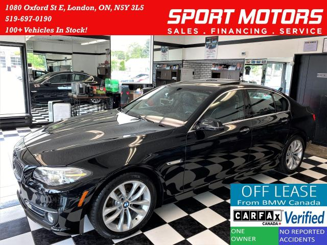 2016 BMW 5 Series 528i xDrive+Roof+GPS+Camera+Accident Free