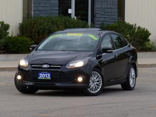 Used 2013 Ford Focus LEATHER,TITANIUM,NAVIGATION,REAR-CAM,NO-ACCIDENTS for sale in Mississauga, ON