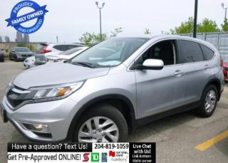 Used 2016 Honda CR-V AWD SE HTD SEAT Rear CAM Clean TItle, Fctry Wrty for sale in Winnipeg, MB