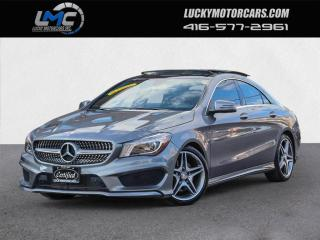 Used 2016 Mercedes-Benz CLA-Class CLA250 4MATIC AMG SPORT PKG-PANOROOF-CAMERA-LEDS-25KMS for sale in Toronto, ON
