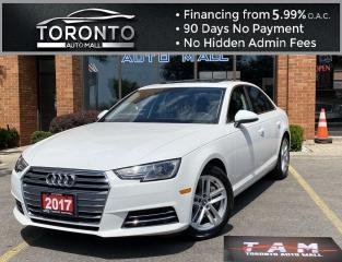Used 2017 Audi A4 2.0T Premium quattro Sedan Komfort Sunroof Apple Car Play Leather Heated Seats Keyless Entry for sale in North York, ON
