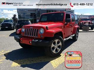 Used 2018 Jeep Wrangler Unlimited Sahara  - Bluetooth - $293 B/W for sale in Ottawa, ON