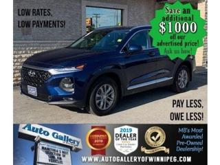 Used 2019 Hyundai Santa Fe Safety Package *Awd/B.cam/B.tooth/Htd seats for sale in Winnipeg, MB