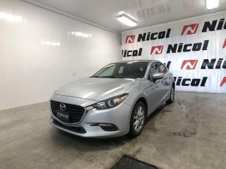 Used 2018 Mazda MAZDA3 Sport GS VOLANT ET SIÈGES CHAUFFANTS! for sale in La Sarre, QC
