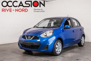 Used 2017 Nissan Micra SV BLUETOOTH+A/C+GR.ELECTIQUE for sale in Boisbriand, QC