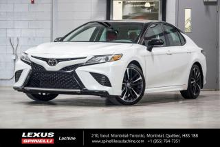 Used 2018 Toyota Camry XSE; CUIR TOIT PANO ANGLES MORT PRE COLLISION INTÉRIEUR ROUGE - TOIT PANORAMIQUE - MONITEUR ANGLES MORT - PRÉ COLLISION - MAGS 19'' for sale in Lachine, QC